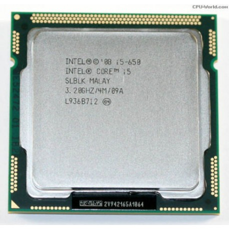 Intel Core i5-650 Processor (4M Cache, 3.20 GHz), 1st Gen. processor,1156 Socket