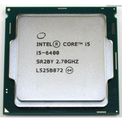 Intel Core i5 6400 (LGA1151 Socket, 2.70 Ghz Turbo Boost to 3.30 Ghz, 6MB Cache) - 6th Generation