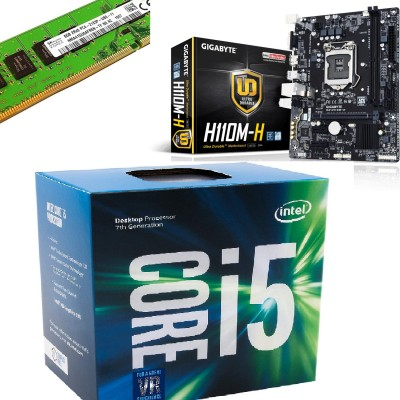 Gigabyte GA-H110M-H Motherboard, i5 7400 Processor(7th Gen) and 8GB DDR4 Ram