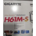 Gigabyte H61M-S Motherboard (REV 1.1) LGA 1155 Socket, 2nd and 3rd Gen Motherboard, Lowest and cheap price